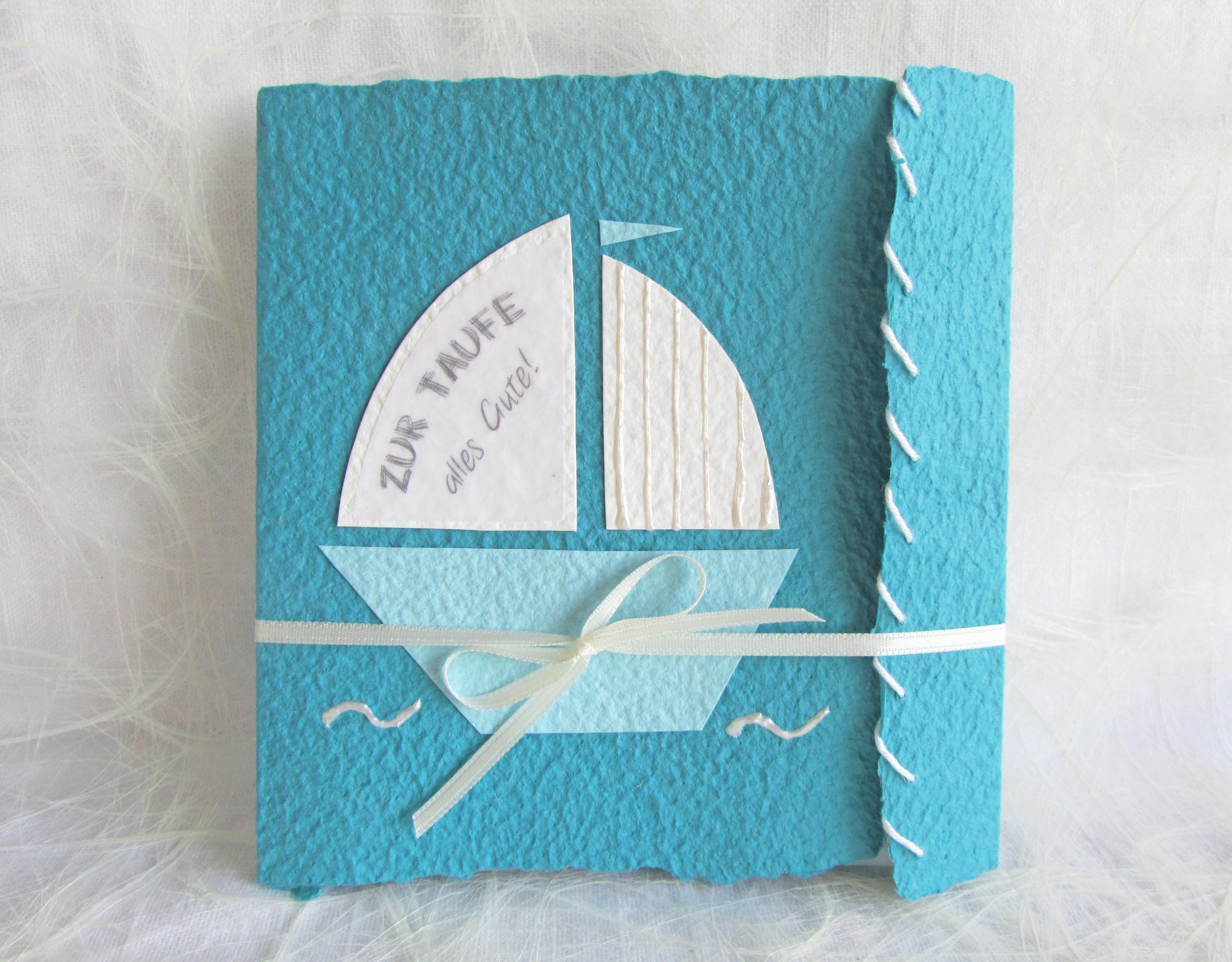 Glückwunschkarte Segelboot Zur Taufe Kommunion Konfirmation