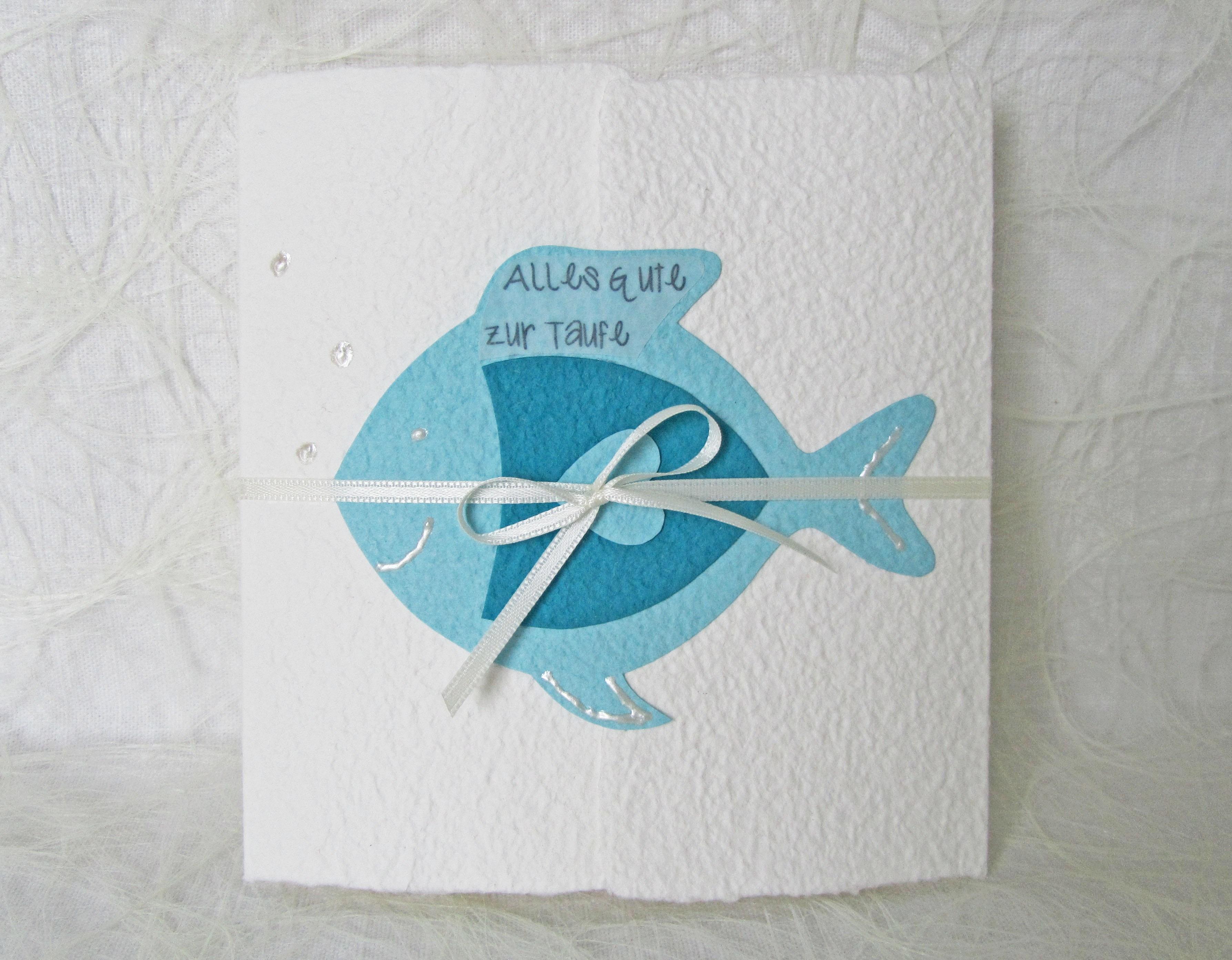 Glückwunschkarte Fisch Zur Taufe Kommunion Konfirmation