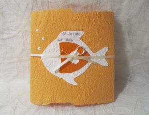 Weiss auf orange
