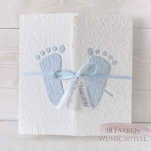 Geburtsanzeige Füsschen blau
