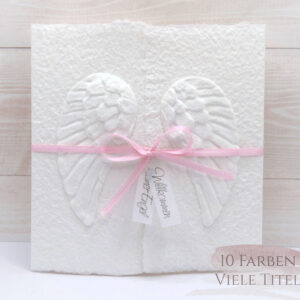 Glückwunschkarte Baby Engel weiss