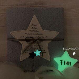 """Trauerkarte """"Der kleine Prinz"""" für ein Kind, Sternenkind oder Baby Stern blau"""